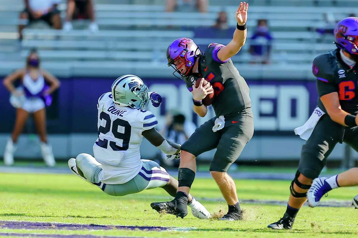 Horned Frogs quarterback Max Duggan has thrown for 3,872 yards with 25 touchdowns and 14 interceptions since arriving at TCU in 2019.