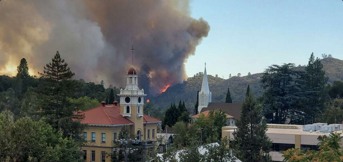The Washington Fire threatened historic downtown Sonoma on Thursday.