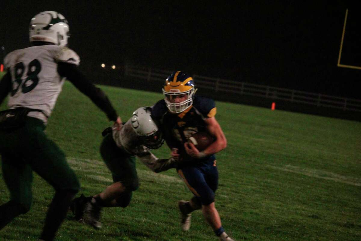 Evart's Bryant Calderon, pictured here in action last season, had a big night for the Wildcats in Friday's win over Frankfort. (Pioneer file photo
