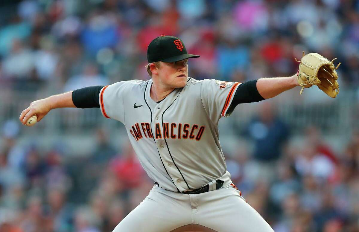 Giants starting pitcher Logan Webb struck out six and allowed no runs and five hits over seven innings. He threw just three pitches to retire the Braves in the fourth inning.