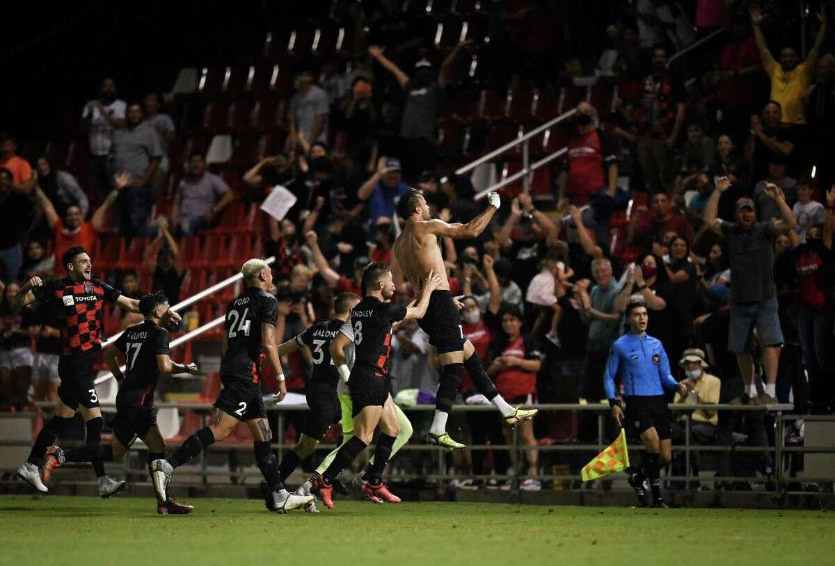 El Paso Locomotive FC plays San Antonio FC during a USL Championship soccer match, Saturday, Aug. 28, 2021, at Toyota Field. San Antonio won 2-1.