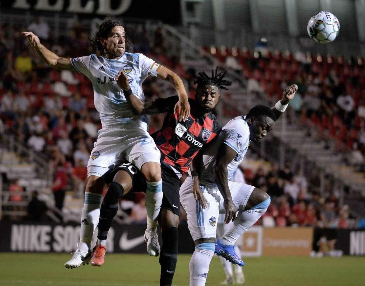 El Paso Locomotive FC plays San Antonio FC during a USL Championship soccer match, Saturday, Aug. 28, 2021, at Toyota Field.