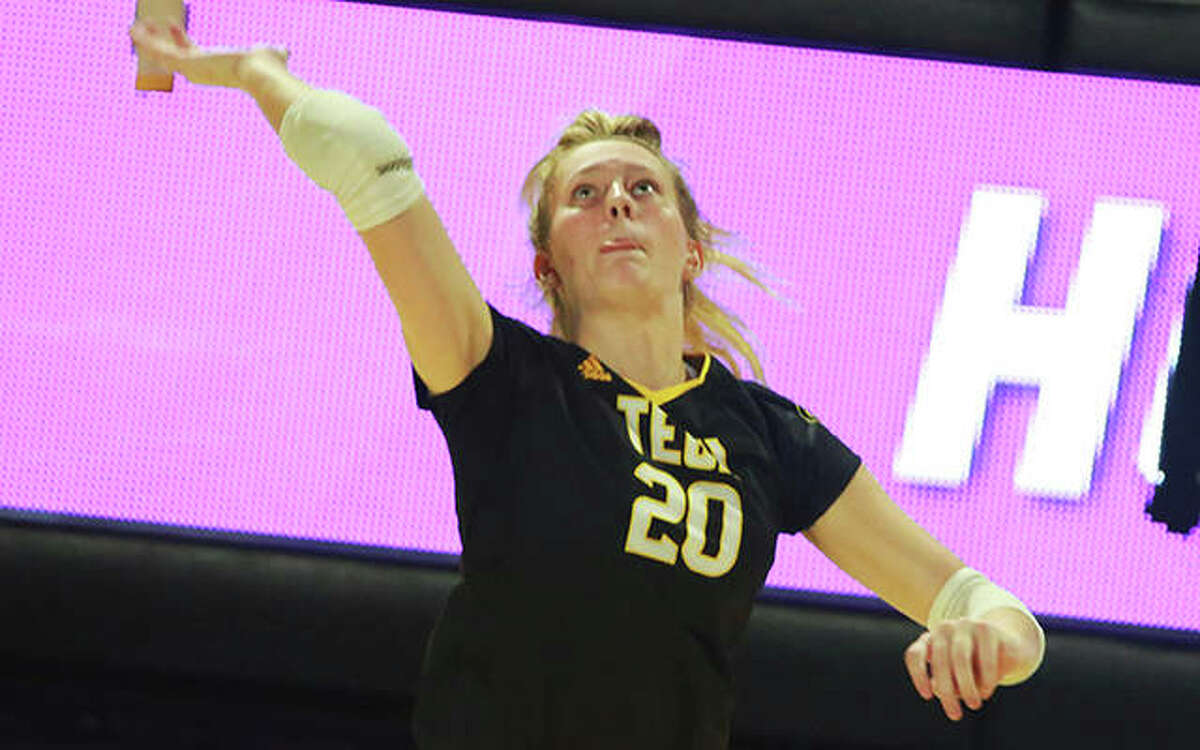 Edwardsville High School grad and Tennessee Tech freshman Maddie Isringhausen earned all-tournament honors for Tech at Auburns' War Eagle Invitational. The 5-foot-11 outside hitter averaged 4.1 kills per set with Tech losing to Auburn 3-0 and beating Jackson State 3-1, with a match against The Citadel cancelled. Isringhausen, daughter of Cardinals Hall of Famer Jason Isringhausen, ends the season's opening week ranked No. 2 in the Ohio Valley Conference in kills per set. She also had three blocks, two service aces and nine digs in the tourney.