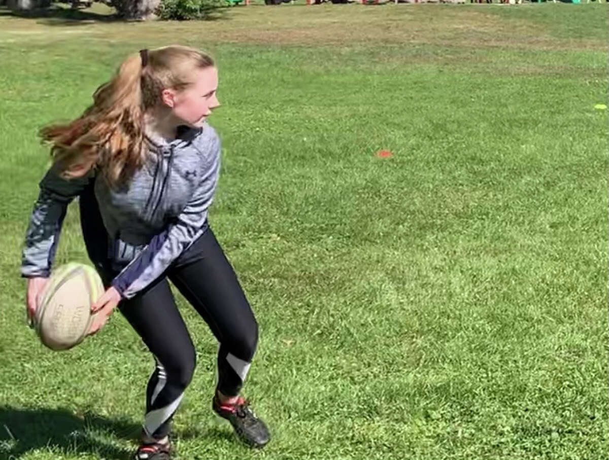Maddy Duffy is a Bethlehem High School tennis player who also loves the sport of rugby. (Provided)