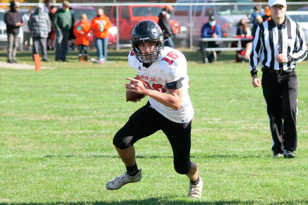 Bear Lake quarterback Bryce Harless had a monster performance on the ground, finishing with 221 yards and four touchdowns on Friday. (News Advocate file photo)