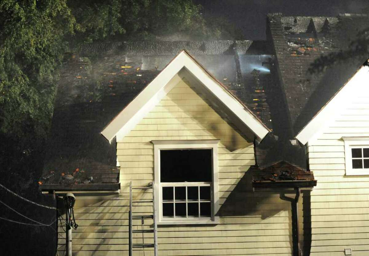 Aftermath of a house fire at 191 Cognewaugh Road, Cos Cob, Thursday evening, Sept. 16, 2010.