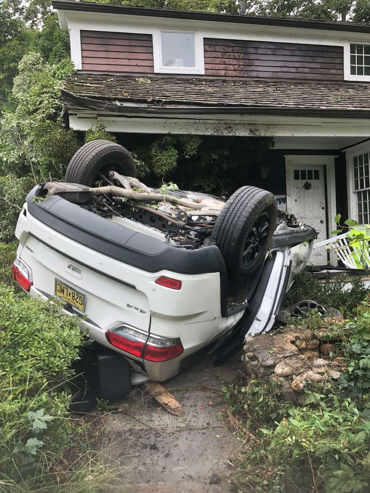 A car accident has left a section of Route 7 in Wilton closed.