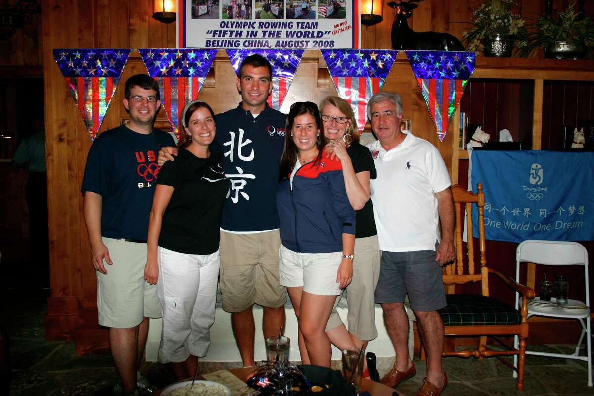 Matthew Hughes alongside his parents and siblings at a Four Seasons Club member event in 2008. (Courtesy Photo)