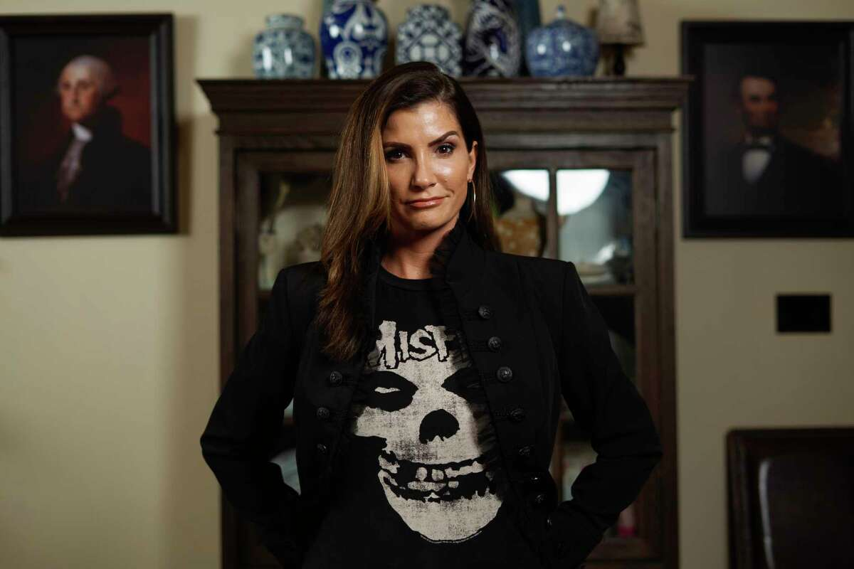 Former National Rifle Association spokeswoman Dana Loesch, now a conservative media powerhouse, poses at her home near Dallas.