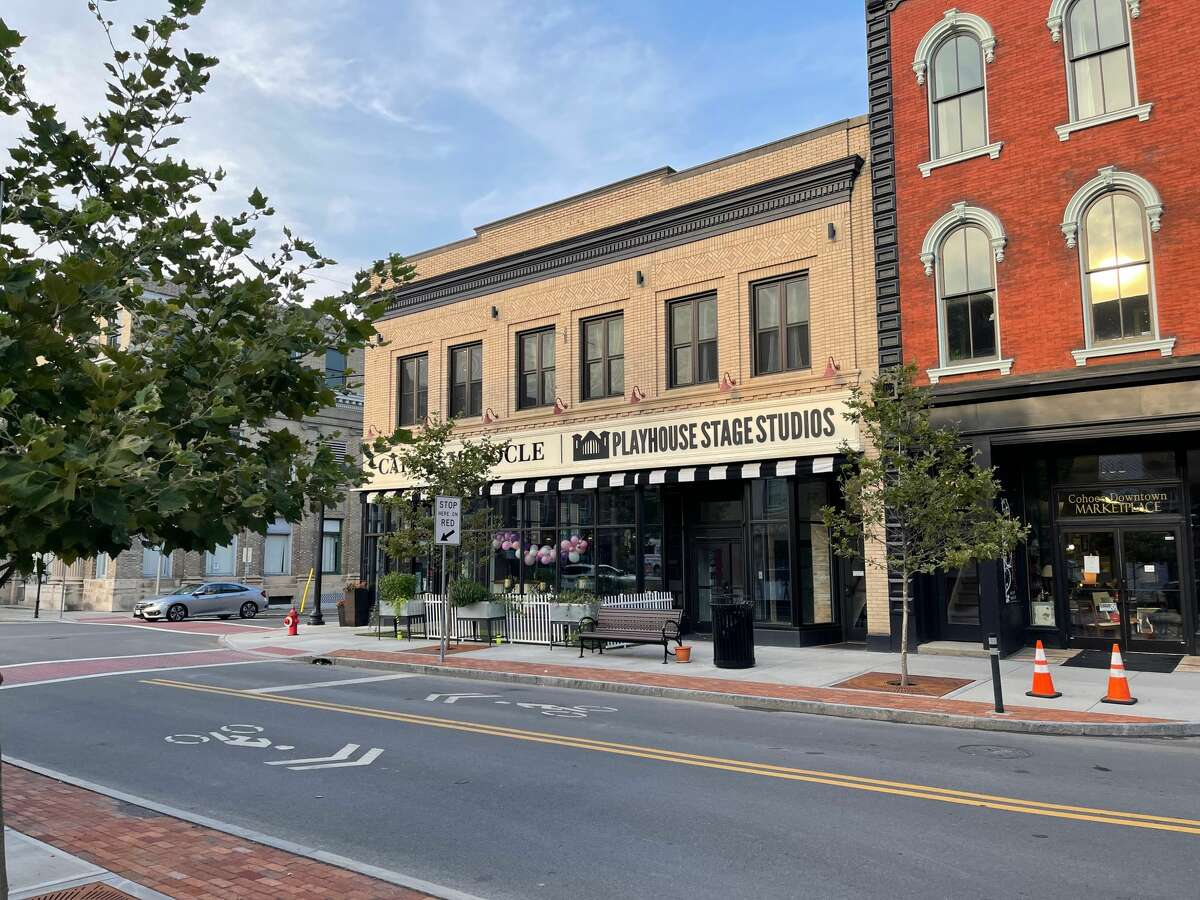 Playhouse Stage Studios, at 95 Remsen St. in Cohoes, recently opened as an education and rehearsal space for Playhouse Stage Company. It is about two blocks from Cohoes Music Hall, which Playhouse Stage manages and where the company produces musicals from fall to spring.