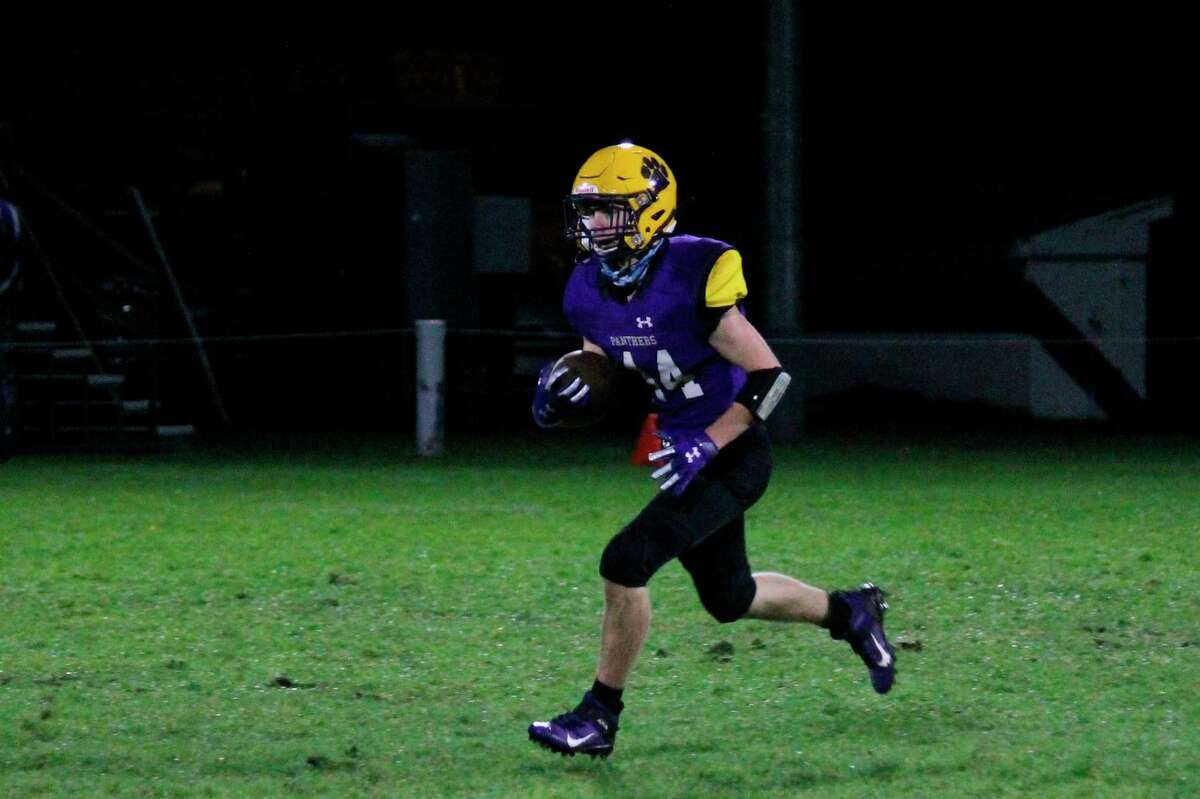 Jared Coxe runs back a kick for the Panthers during a game last year. (File photo)