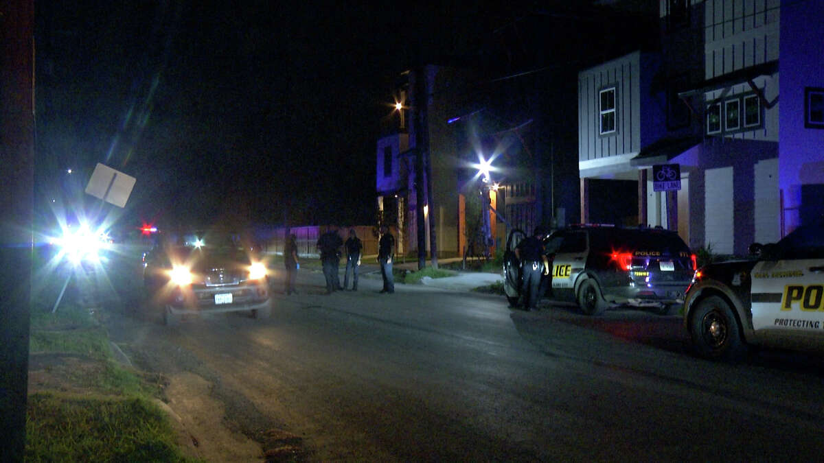 A 30-year-old man was hospitalized after he was shot and then run over on the East Side on Sunday night, San Antonio police said.