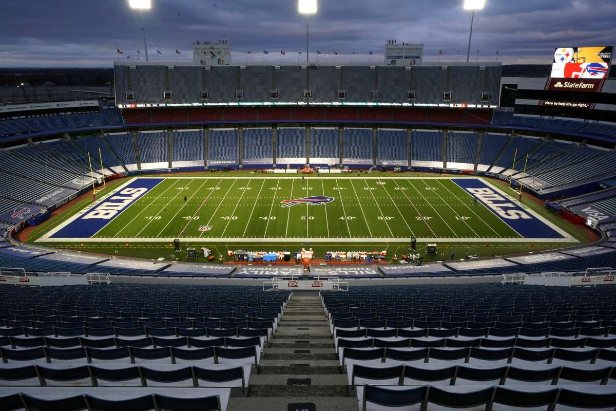 The Buffalo Bills say their days at Highmark Stadium, shown above, are numbered. There will be considerable pressure for New York to offer enough to keep it attractive for the Bills' owners to stay.