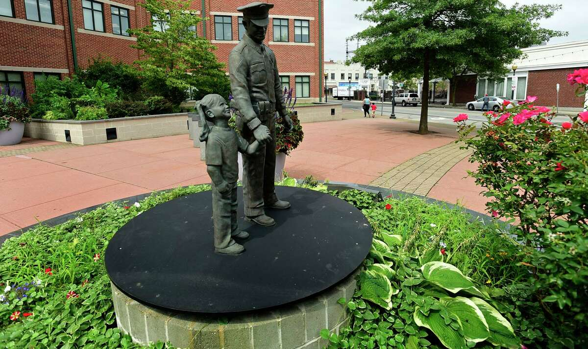 The Norwalk Police Department headquarters and the area surrounding the South Norwalk train station Tuesday, August 10, 2021, in Norwalk, Conn.