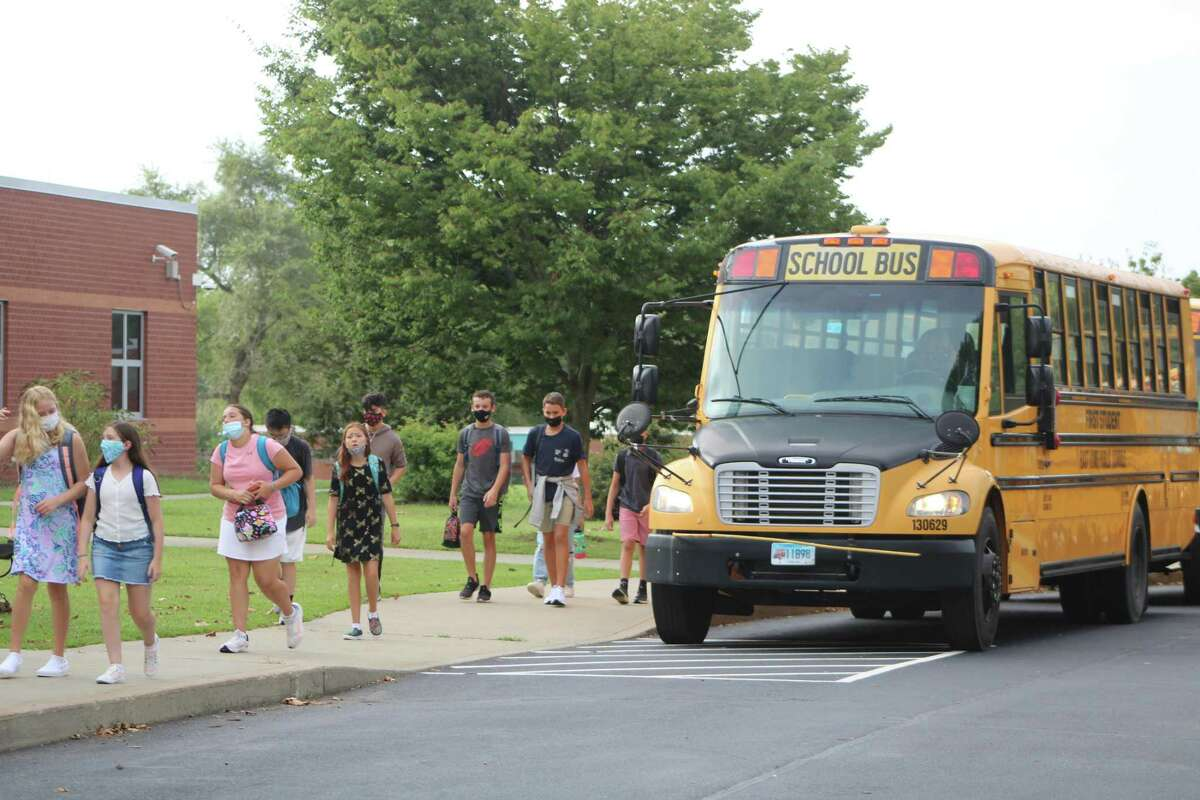 East Lyme Middle School students returned to school Monday.