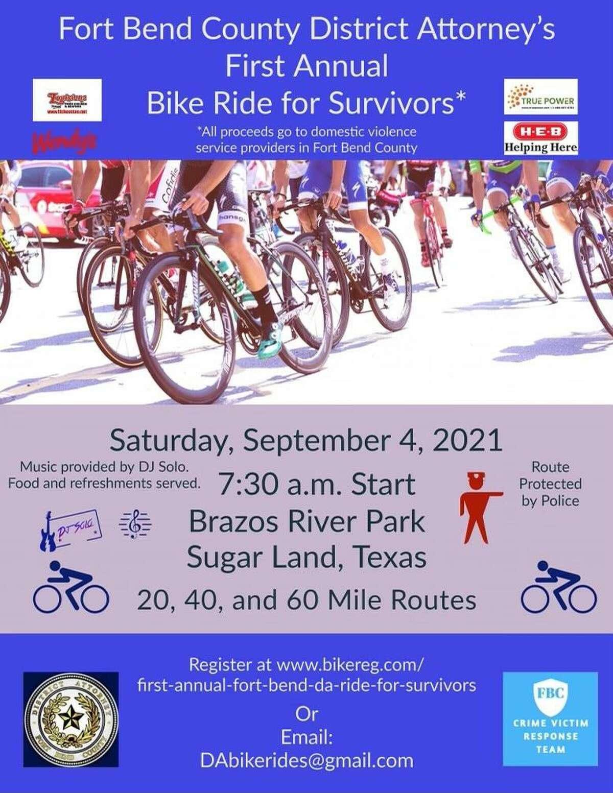 Poster for Sugar Land's inaugural bike ride.
