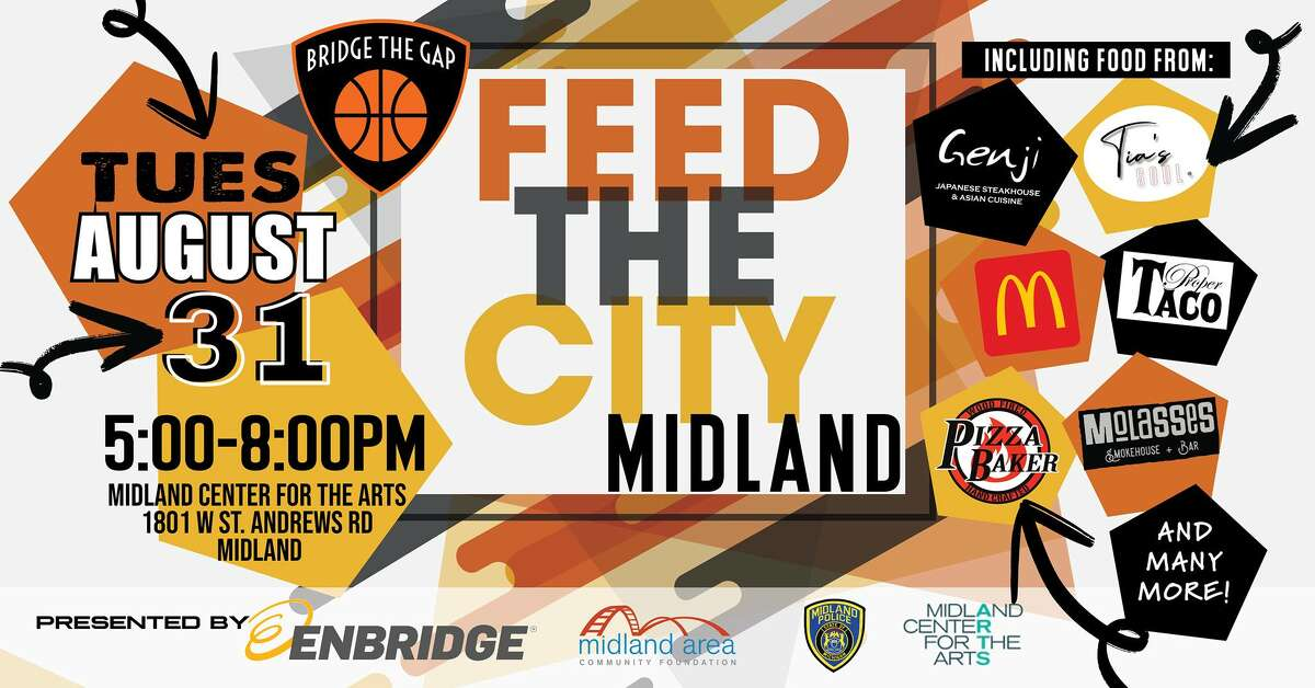 Feed the City, hosted by Bridge the Gap, will take place 5-8 p.m. Tuesday, Aug. 31 at Midland Center for the Arts.