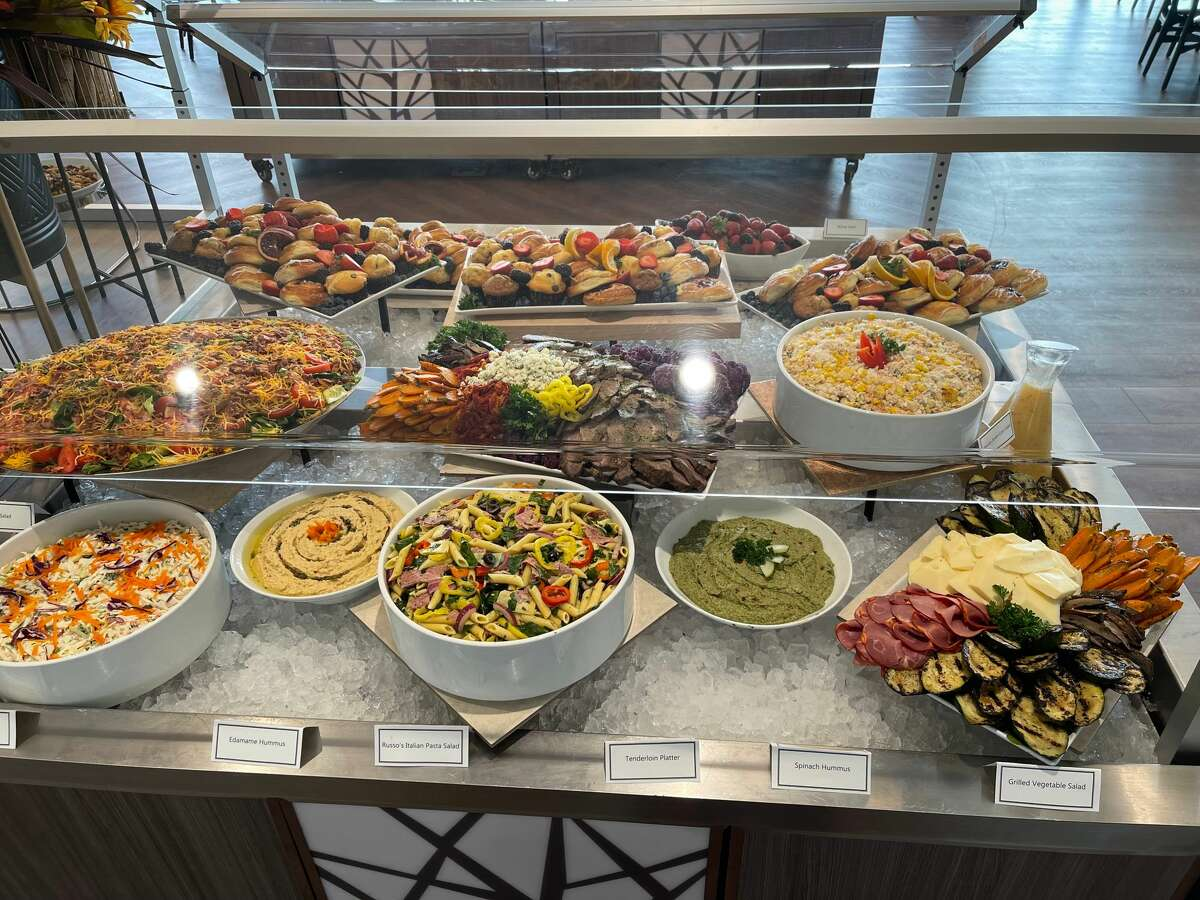 Part of the lunch buffet at the 1863 Club at the Saratoga Race Course.