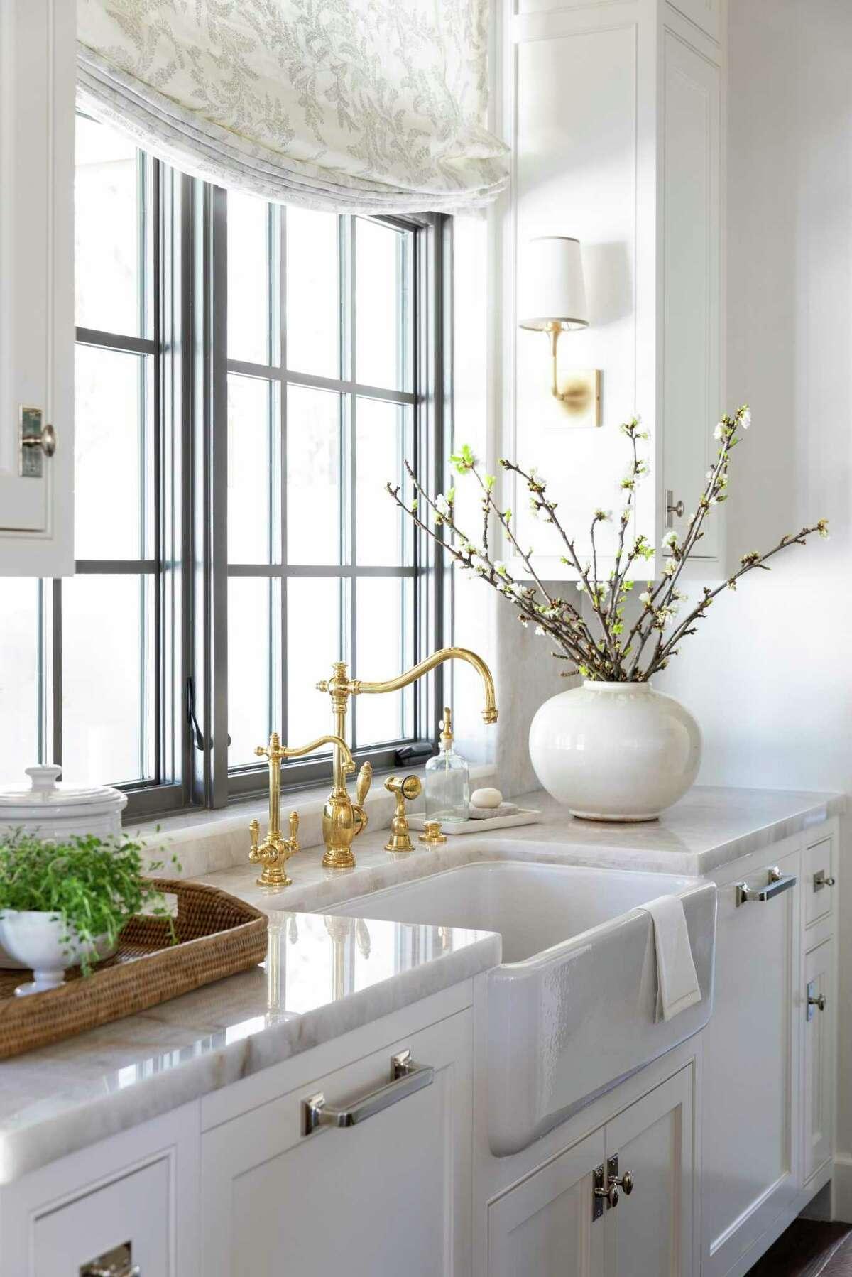 Quartzite counters were chosen for durability in the kitchen.