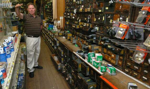 Hal Meeker, of Meeker hardware in Danbury, CT talks about his store Tuesday, Sept. 8, 2009. Photo: Chris Ware / The News-Times