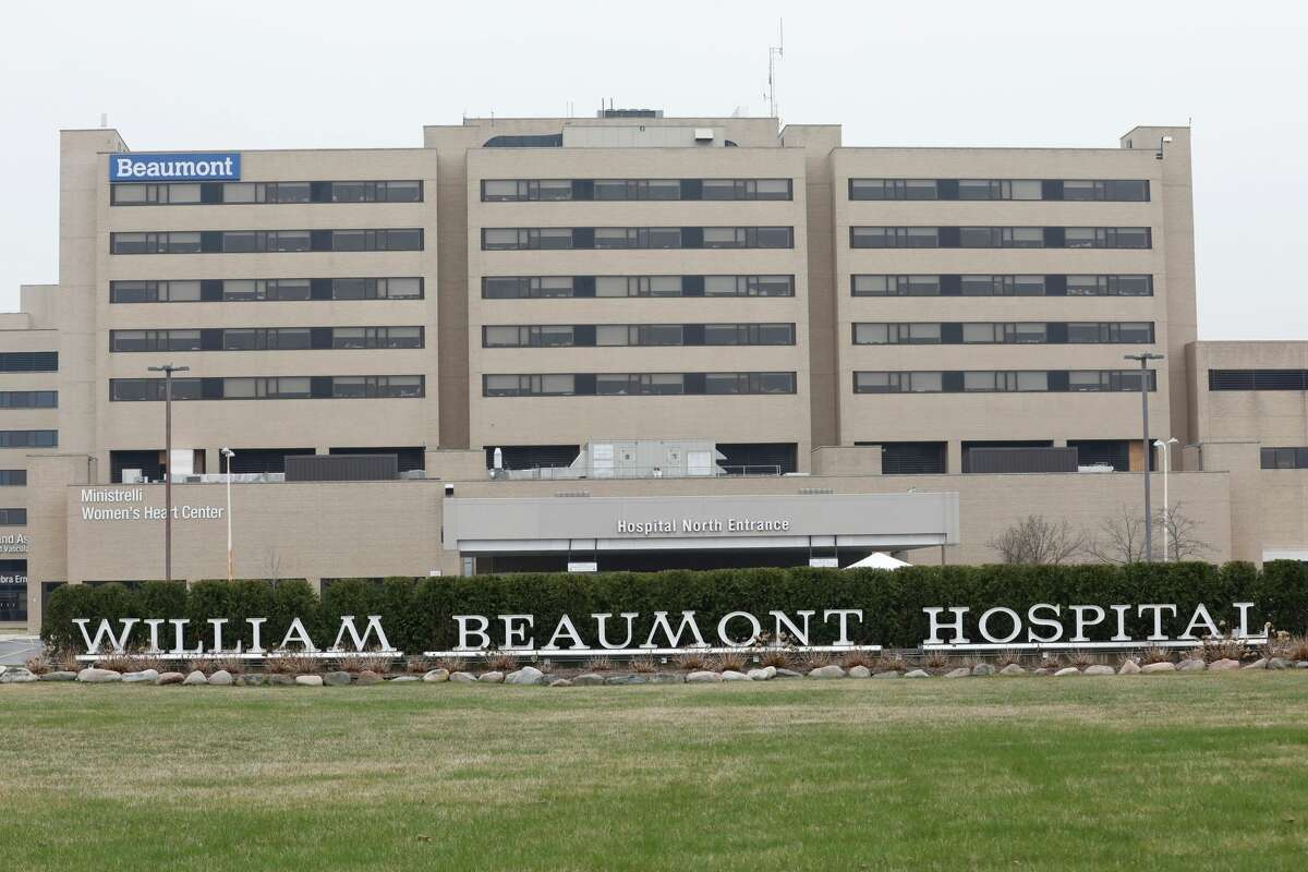Beaumont Hospital in Royal Oakpictured on April 7, 2020.