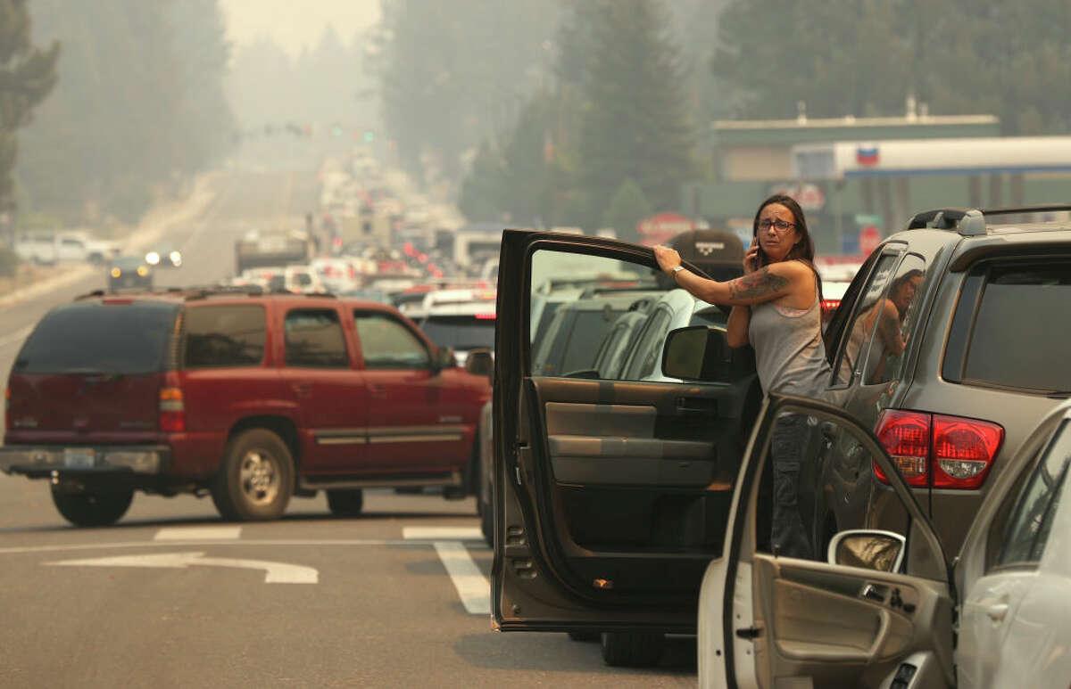 Traffic nightmare as Caldor Fire forced evacuation of South Lake Tahoe