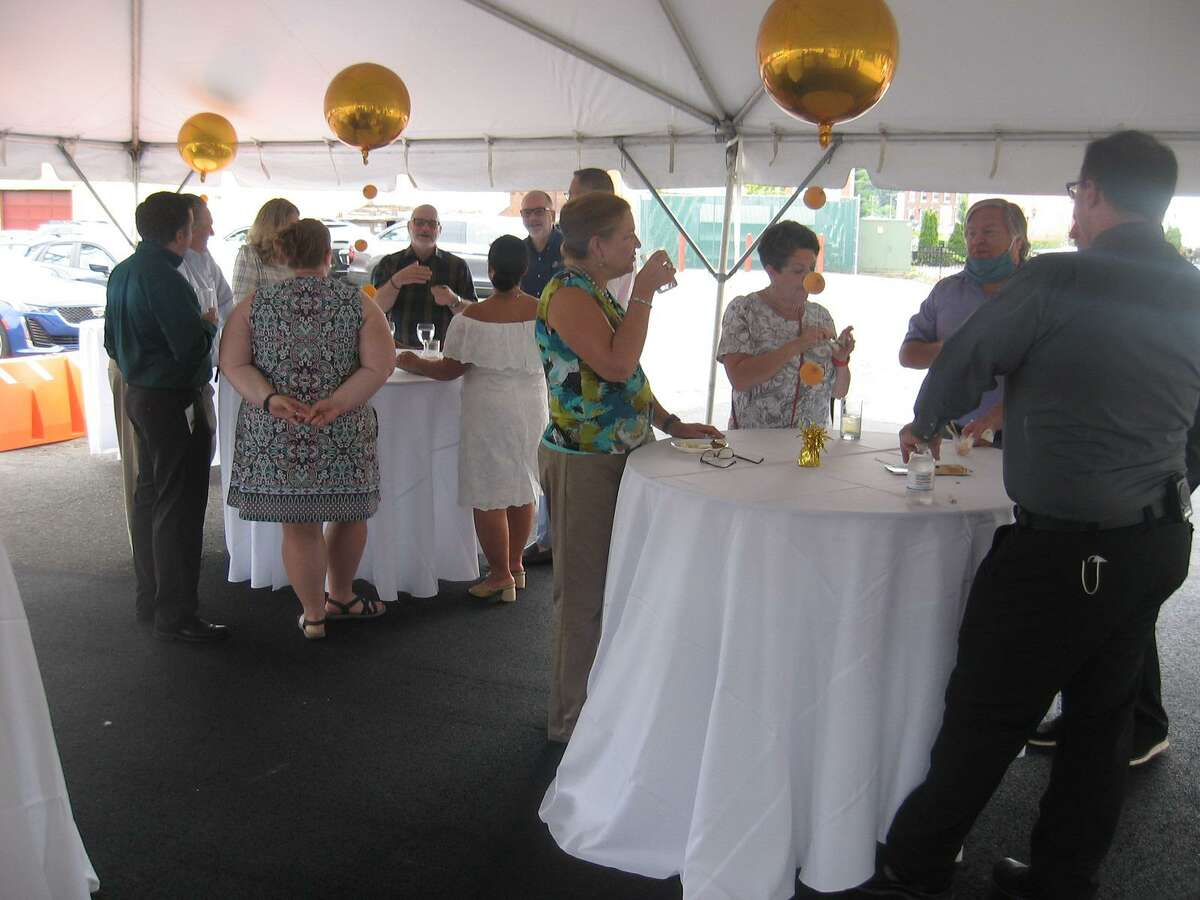 The Warner Theatre celebrated its 90th birthday Aug. 28, where guests were welcomed to a reception under a tent. The party was also held in the Nancy Marine Studio Theatre next door to the main building.