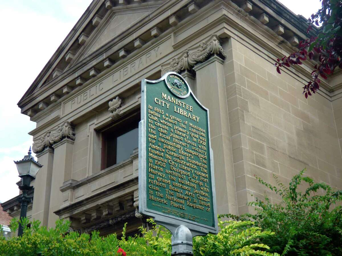 The Manistee County Library is celebrating National Library Sign Up Month in September. (Scott Fraley/News Advocate)