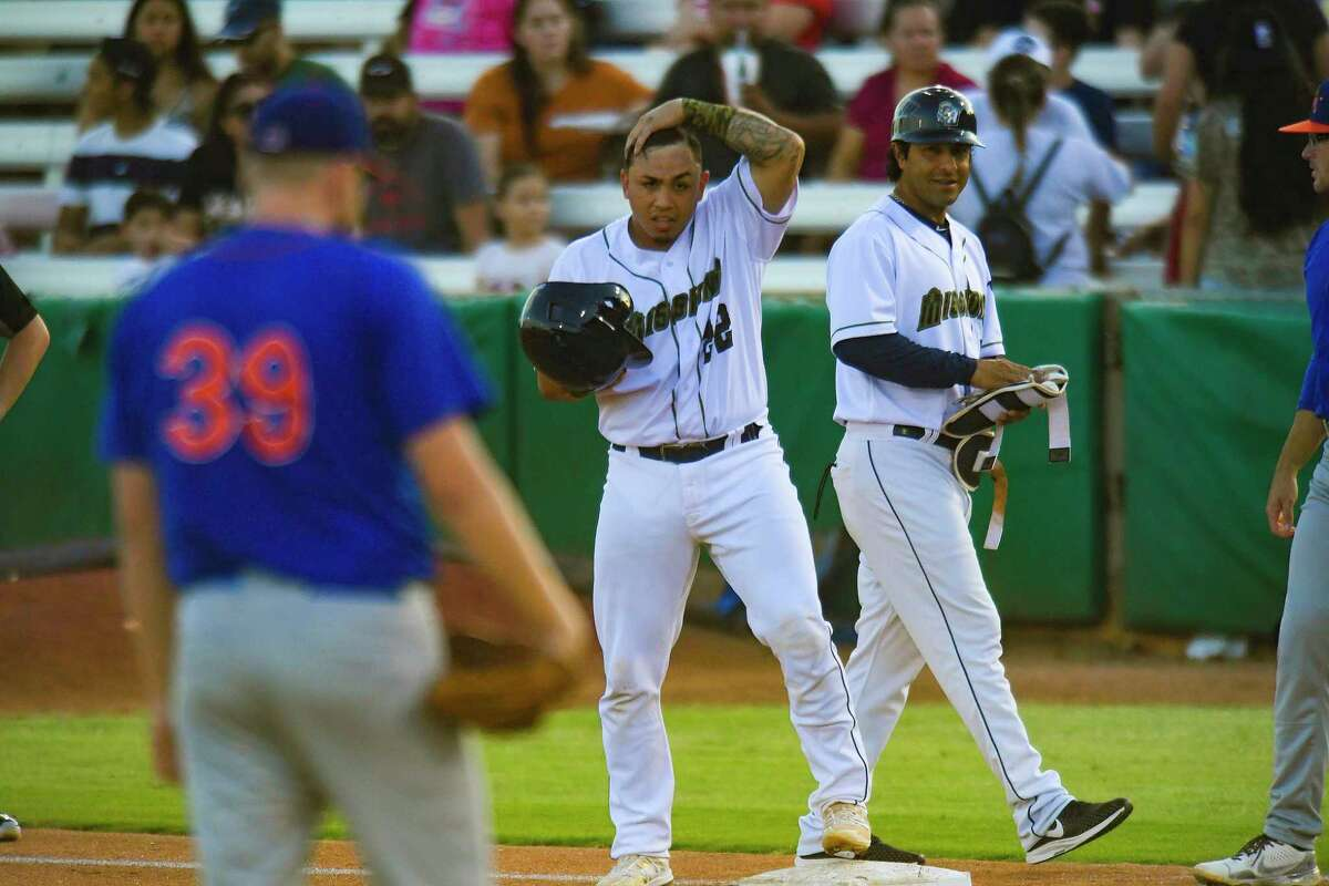 Catcher Juan Fernandez, center, and the Missions will play host to their final Double-A Central homestand of the season starting Tuesday against the Corpus Christi Hooks.