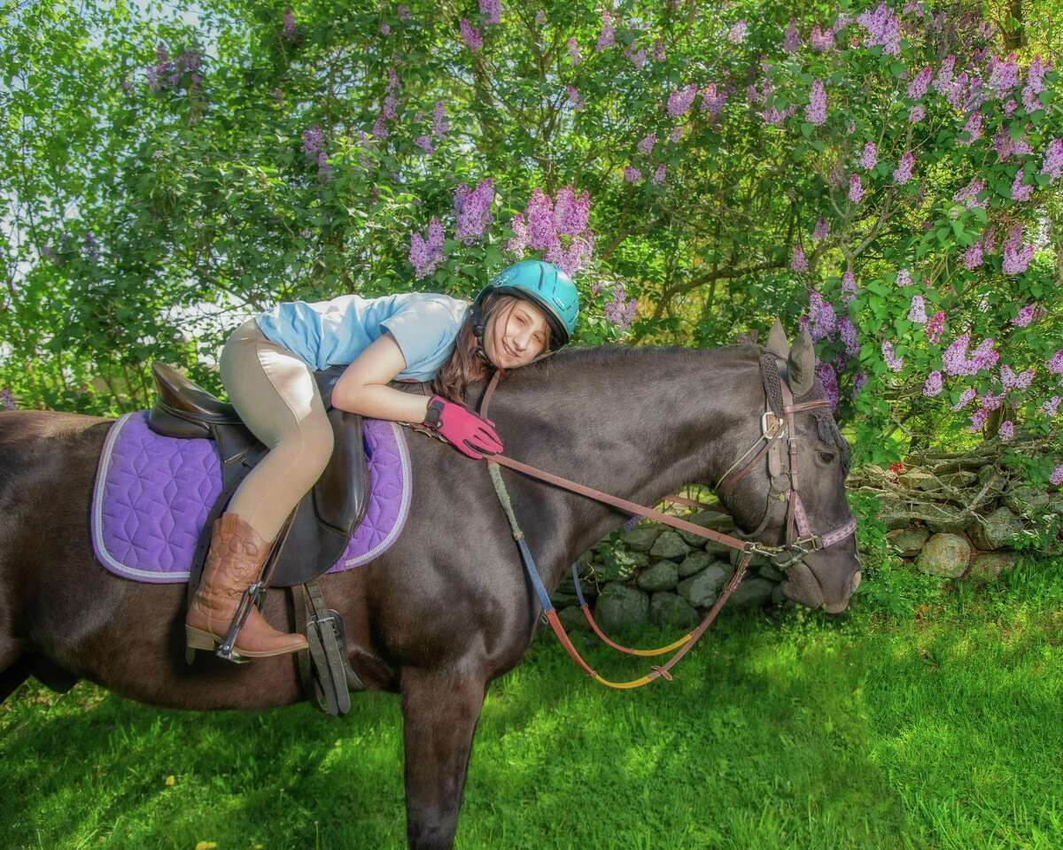 Little Britches rider Ruby Loeffler on Taz. Little Britches is holding an online fundraising auction Sept. 20 - Oct. 4, with all proceeds supporting its therapeutic riding programs.