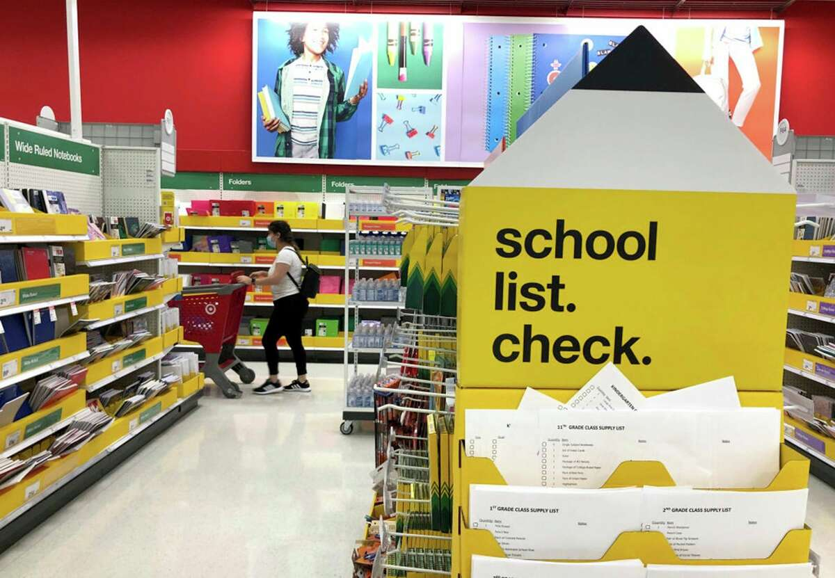 Back-to-school supplies are displayed at a Target store on August 3, 2020 in San Rafael, California. (Justin Sullivan/Getty Images/TNS)