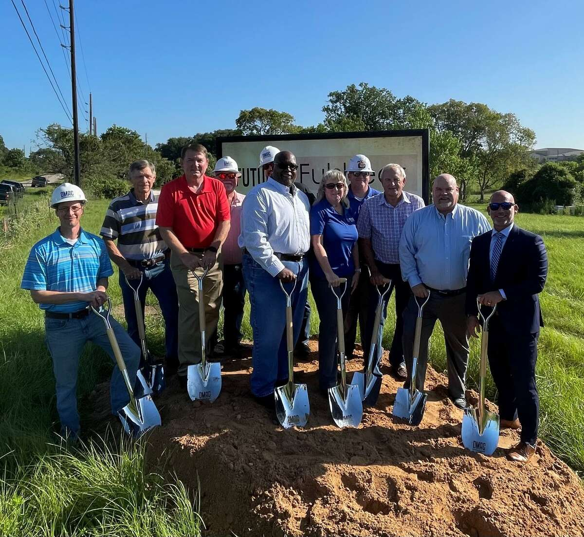 The Fulshear Church of Christ holds a groundbreaking ceremony for its future church building near FM 1093 and Charger Way in Fulshear on Monday, Aug. 23.