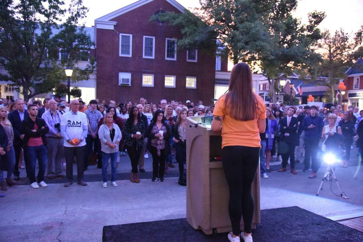 The fifth annual New Canaan Community Addiction Awareness Vigil has been moved to Sept. 2, at 7 p.m., rain or shine, in downtown New Canaan. Pictured is a previous year's event.