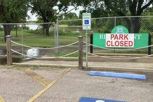 Riverfront Park has been closed for several years due to storm damage from Hurricane Harvey.