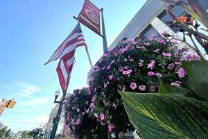Carla Wheeler and Leah Vander Sloot work together with the Big Rapids Parks Department to maintain and care for the flowers throughout the city.