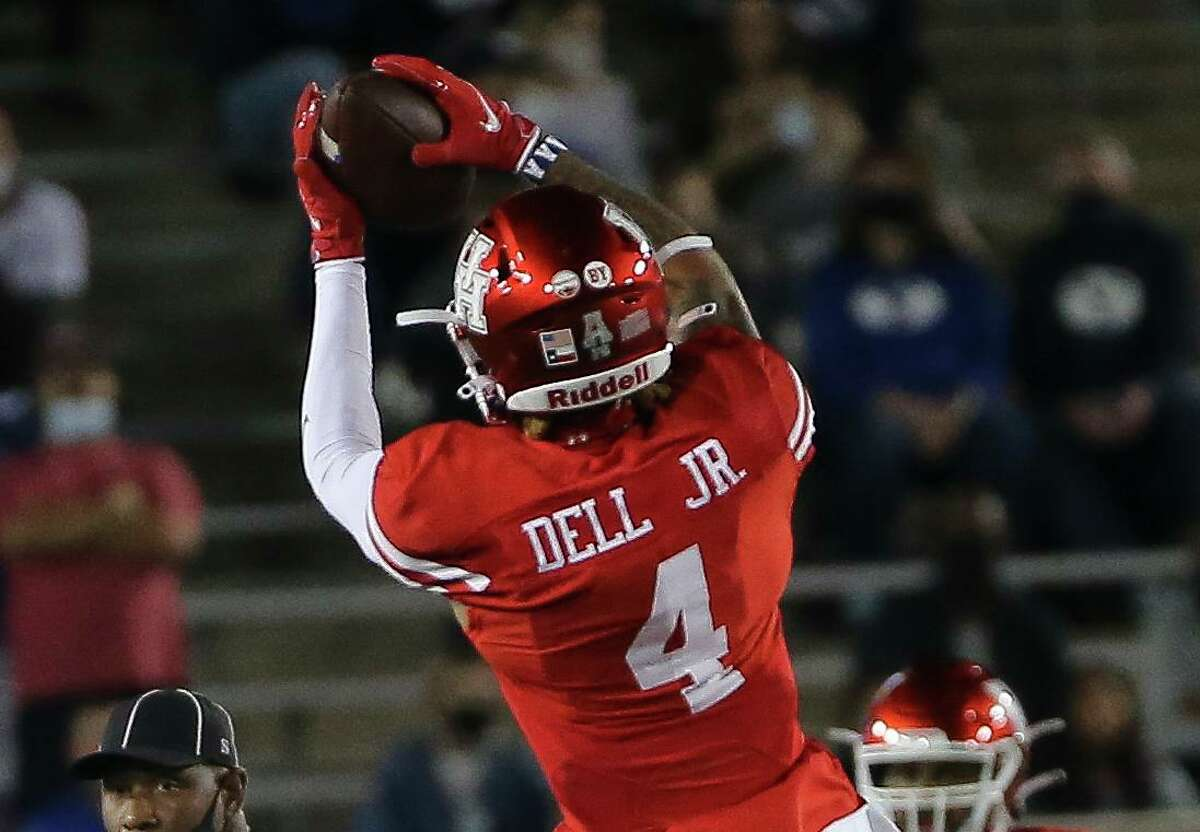 Among UH's returning wideouts, Nathaniel Dell posted the best numbers in 2020, totaling 29 catches for 428 yards in an abbreviated eight-game schedule.