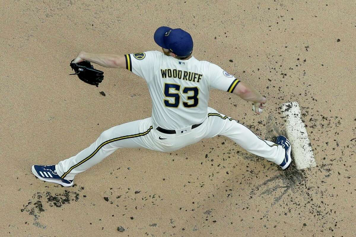 Brandon Woodruff (8-7, 2.38 ERA) is scheduled to start for Milwaukee against the Giants at Oracle Park at 6:45 p.m. Tuesday (NBCSBA, TBS/104.5, 680).