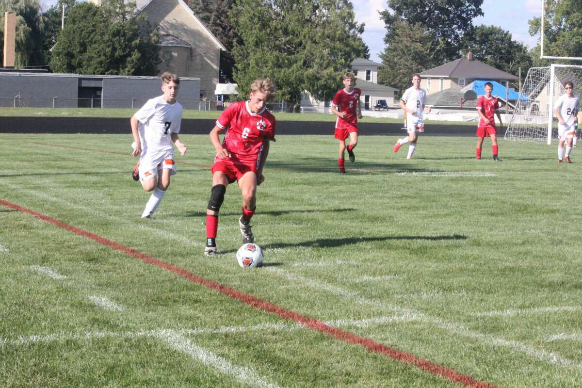 Reed City was too much in a 13-5 soccer win over Kingsley on Monday