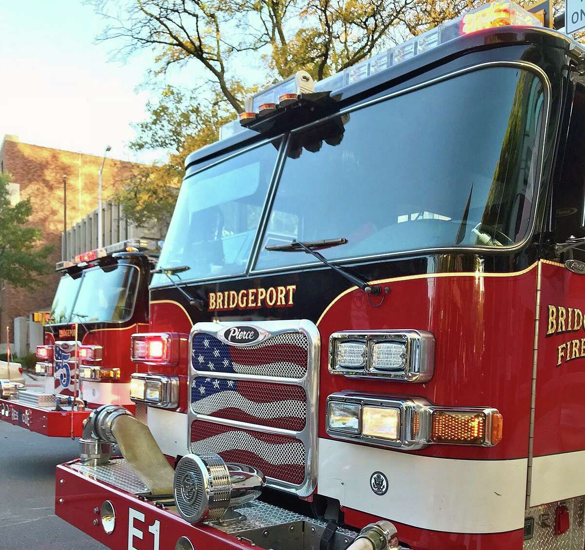 Fire crews extinguished flames on the second and third floors of a residence in Bridgeport, Conn., on Monday, Aug. 30, 2021, officials said.