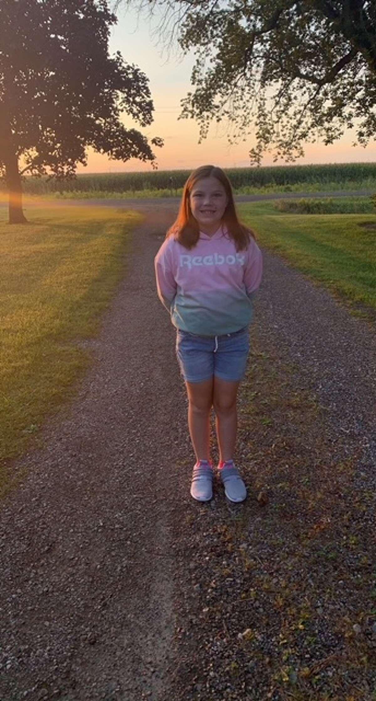 Alexia Schmidt, 8, first day of 3rd grade.