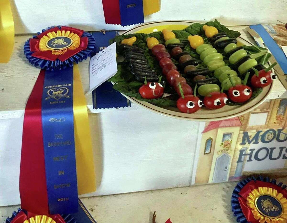Danny Green's caterpillar creations, entered in the Guilford Fair under The Barnyard, Veggie Creation category. Contributed Photo.