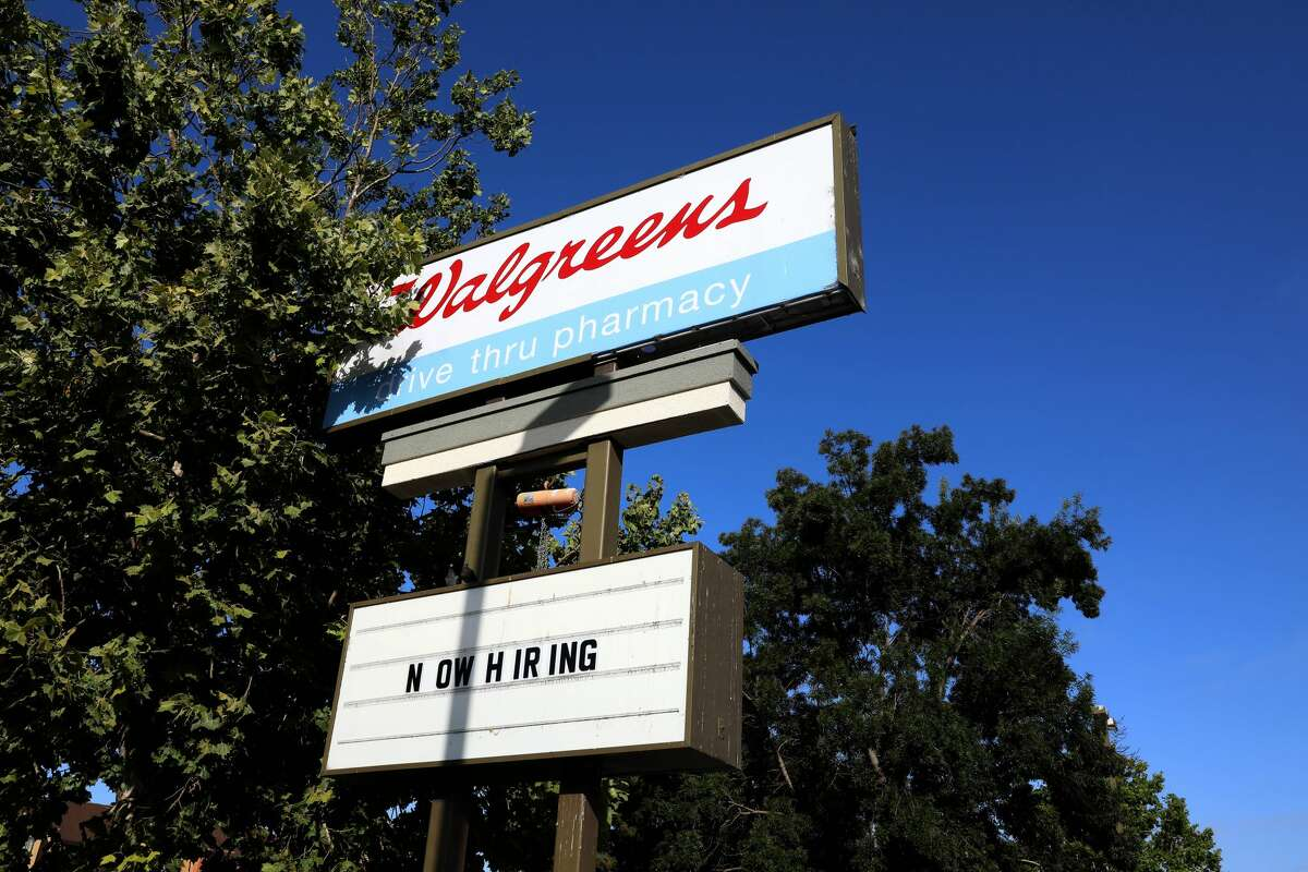 OAKLAND, CA - July 22: Pharmacy store Walgreens, located at 8102 International Blvd., will close its doors soon; photographed on Thursday, July 22, 2021, in Oakland, Calif. (Yalonda M. James/The San Francisco Chronicle via Getty Images)