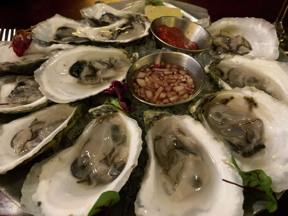 Oysters from the new raw bar at Jack's Oyster House in Albany. It usually stocks a half-dozen or more varieties.