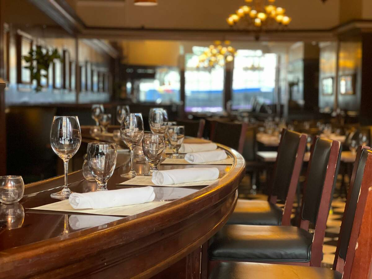 The former service bar in the dining room at Jack's Oyster House in Albany has been renovated to seat patrons for oysters as well as the full menu. Jack's regular bar remains closed.