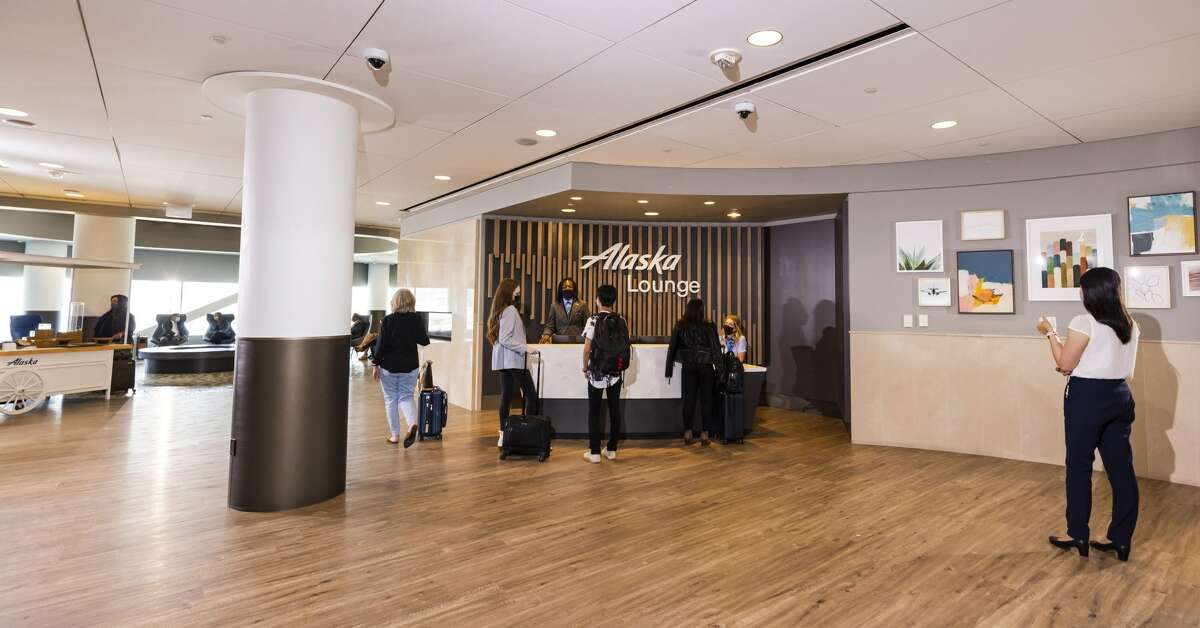 The newest Alaska Lounge, now open at San Francisco International Airport (SFO).