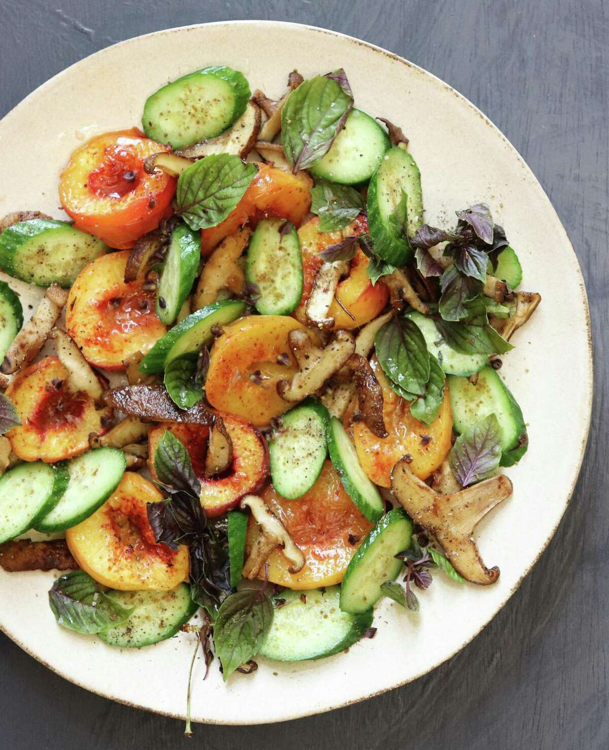 Grilling or roasting peaches with spices ramps up their flavor near the end of the season.
