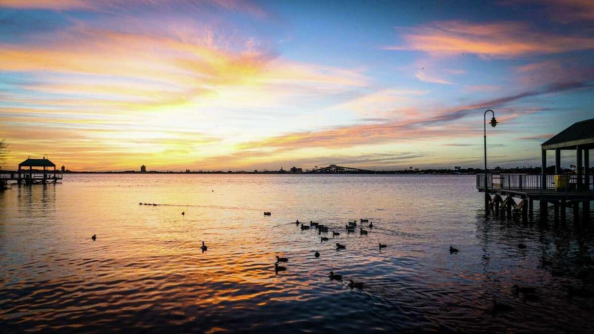 Sunset over Lake Charles, La., the hub of Southwest Louisiana.