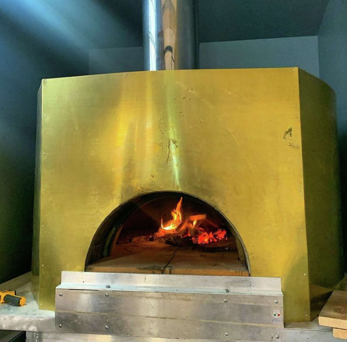 The pizza oven at the new DeFazio's x ADCo, a satellite of DeFazio's Pizzeria opening Friday, Sept. 3, 2021, at Albany Distilling Co.'s bar, located at 75 Livingston Ave., Albany.