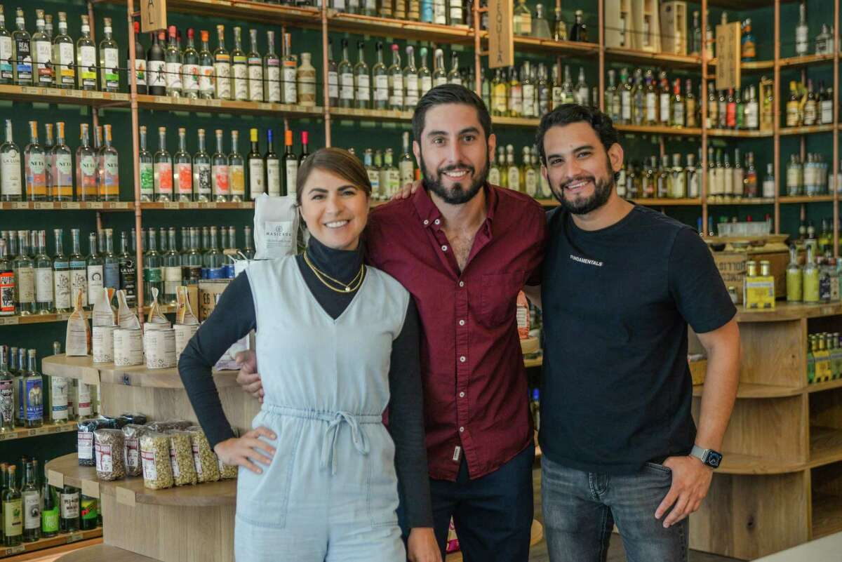 From left, Tahona Mercado co-owners Emily Thompson and Steven Sadri with Marsilo Gabuardi, the former bar manager of S.F.'s Cala.