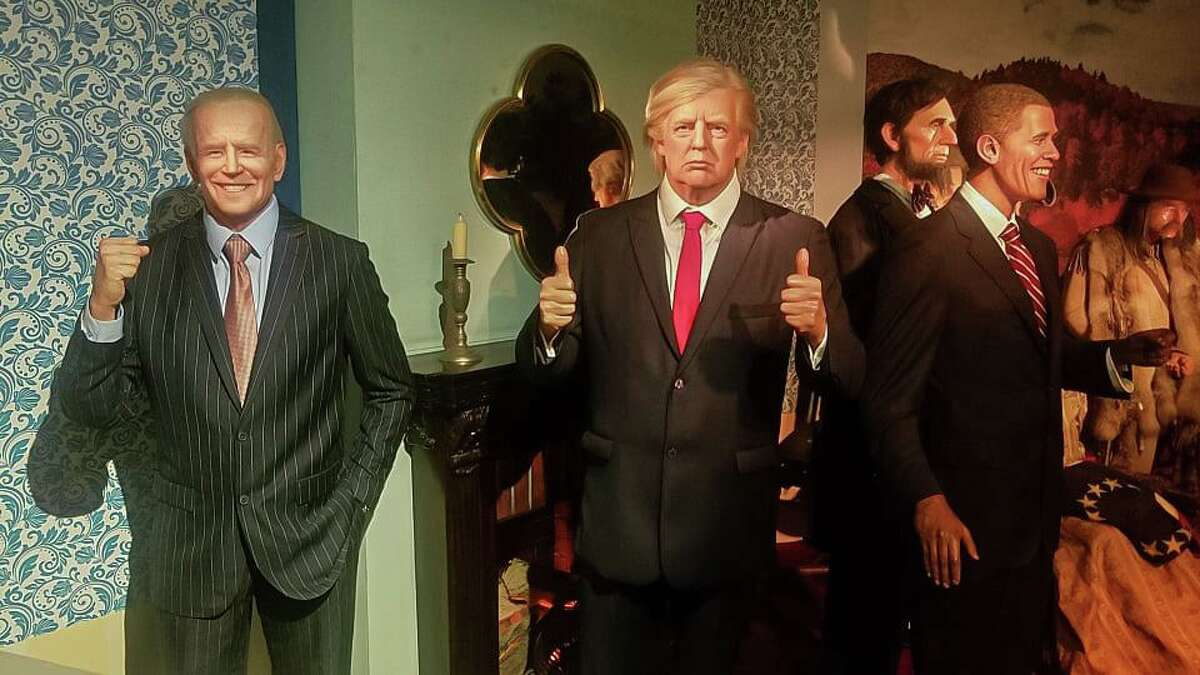 The Joe Biden wax figure, next to figures depicting Donald Trump, Barack Obama and other presidents, was quietly put on display last week at Louis Tussaud's Waxworks in San Antonio.